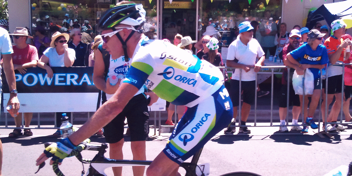 TDU cycling challenge with the professionals in Australia
