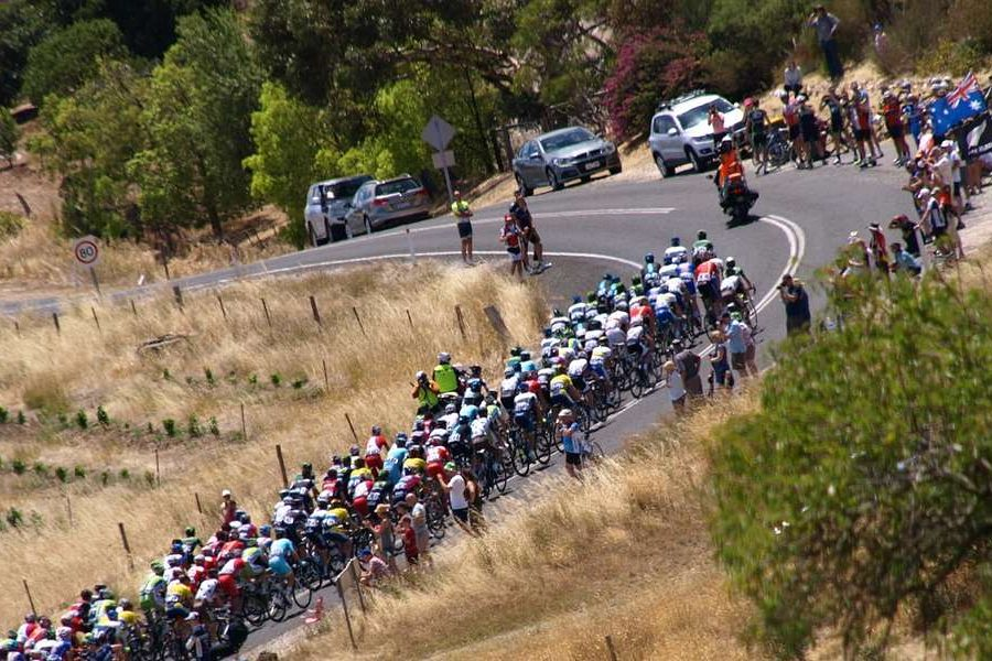 Superb bike race Tour down under