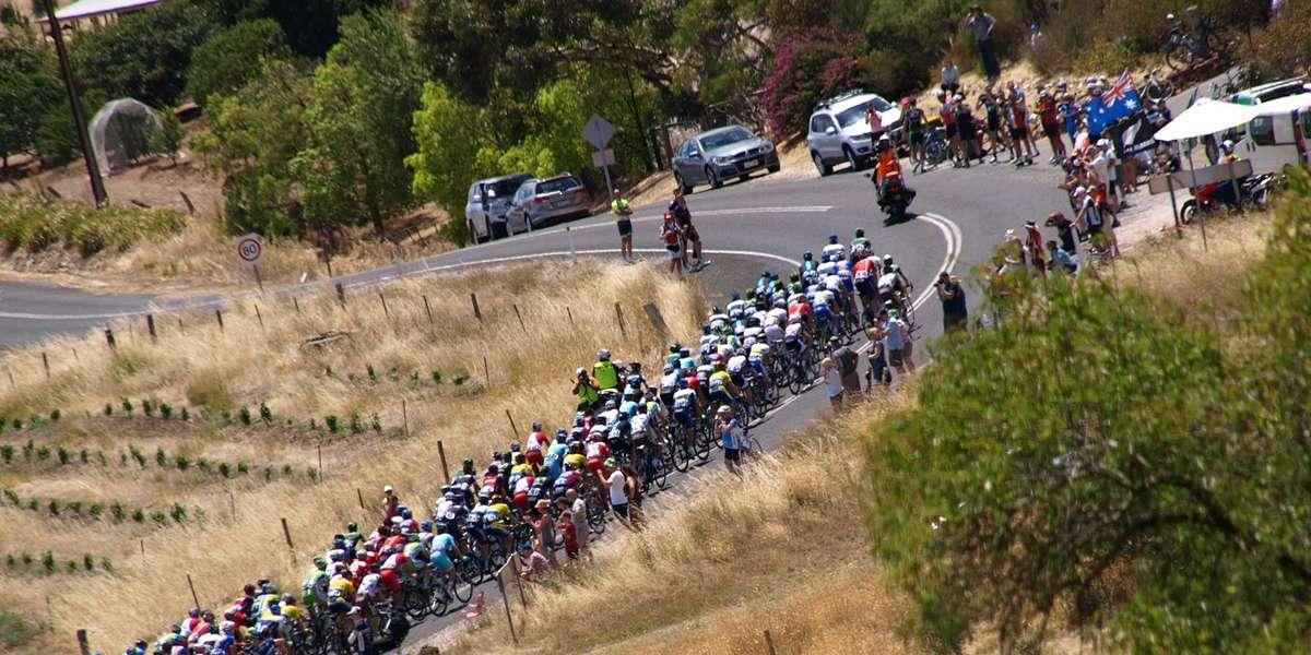 Superb bike race Tour down under
