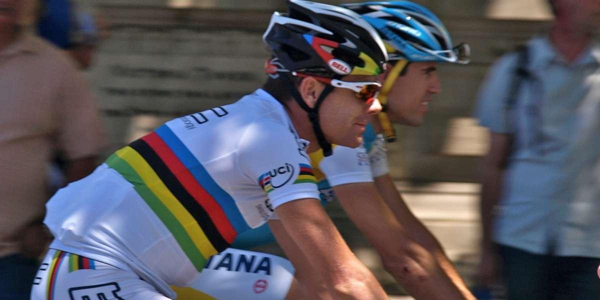 Australia bike race with Cadel Evans
