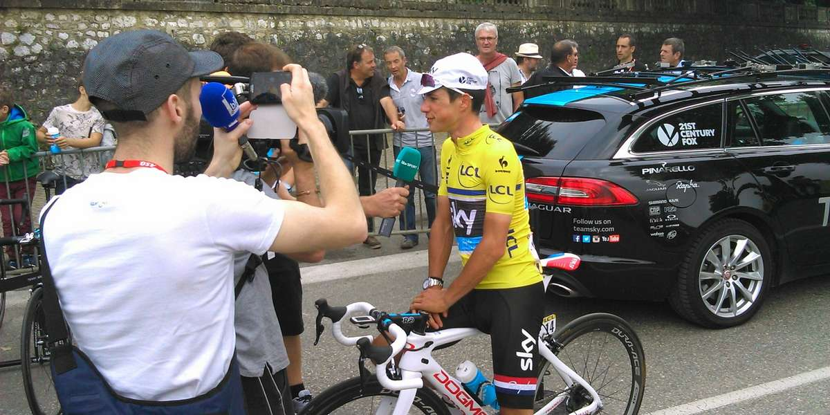 June Bike Race action Criterium Dauphine French Alps