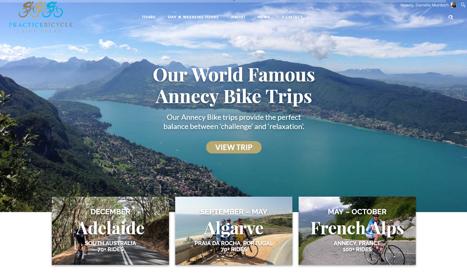 NEW TOURS & WEBSITE from Practice Bicycle Tours