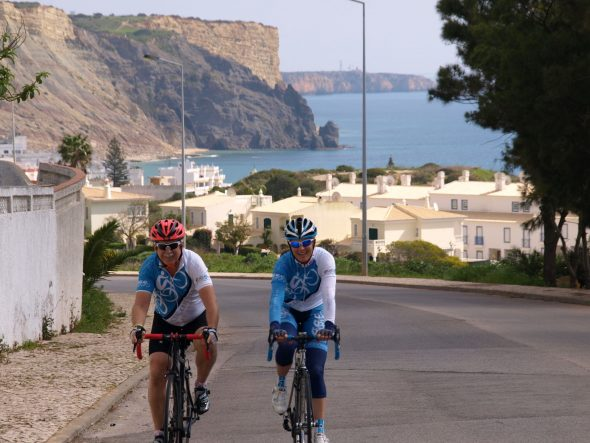 Coastal Roads, Jagged Cliff faces Algarve Fully Guided Cycling Day Trips – Practice Bicycle Bike Tours