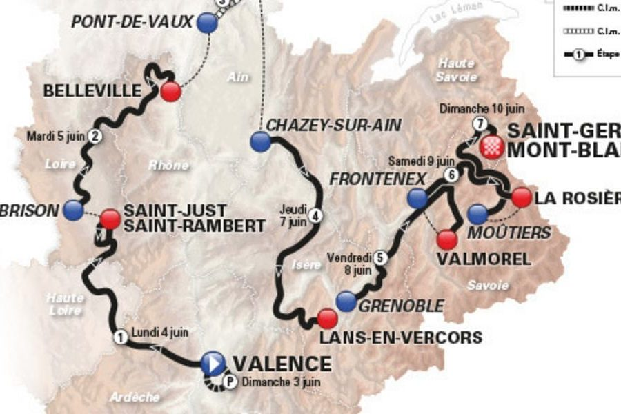 Dauphine Race in the Grand Alps