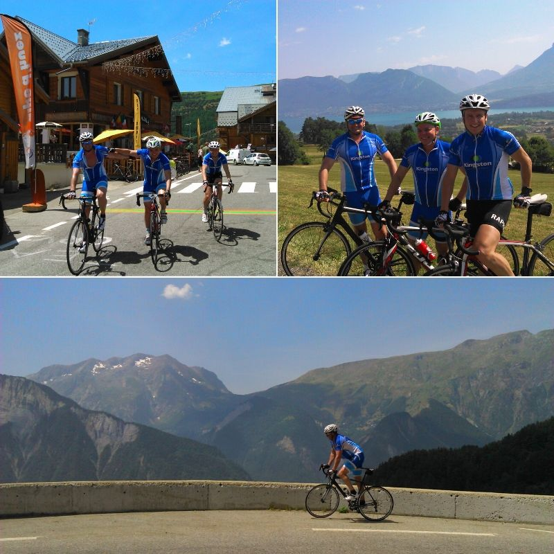 Great cycling in the alps together around Annecy and Alpe d'Huez