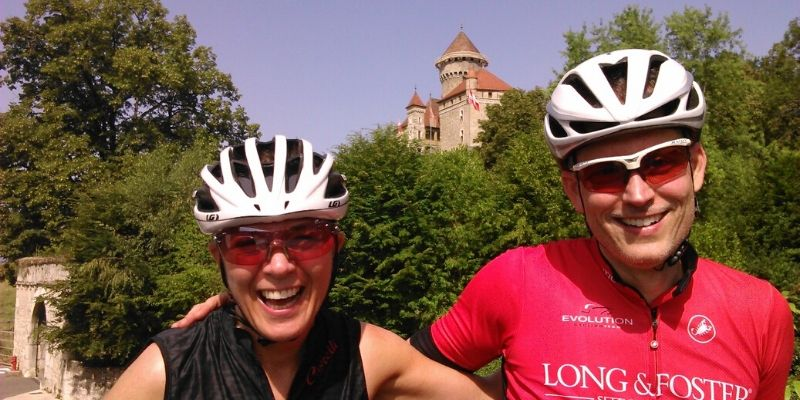 Fun on one of our Annecy Alps rides with Practice Bicycle Tours